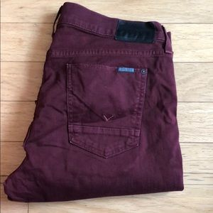Hudson Maroon Men Jeans